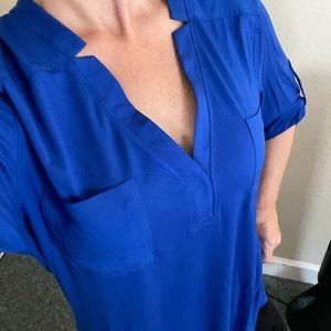 Calvin Klein blue top. Women's/ Large